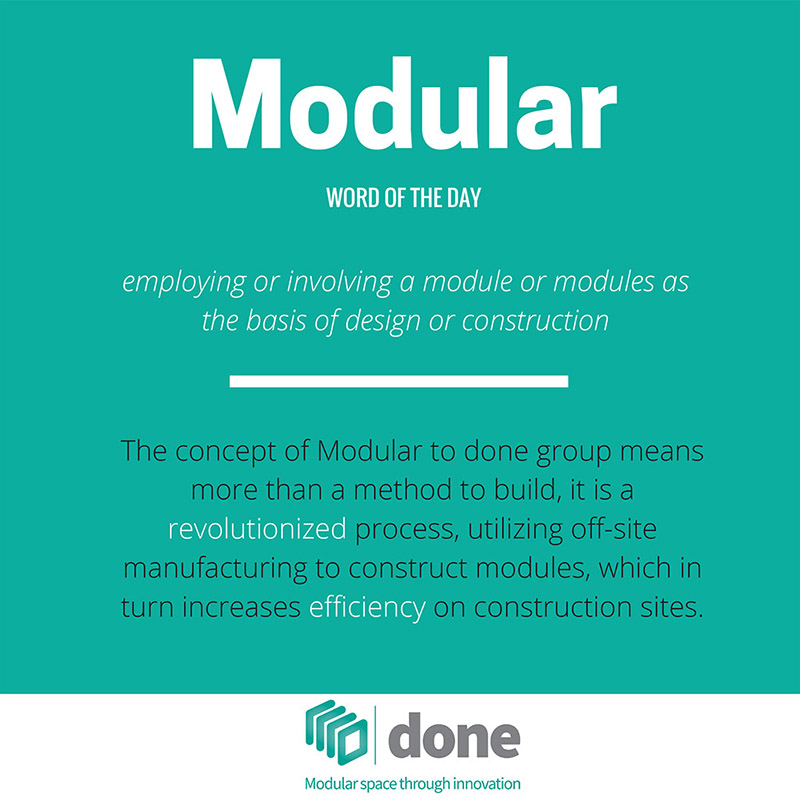 Word of the day modular done group for Define prefabricated